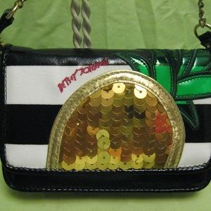 Betsey Johnson clutch or crossbody bag Pineapple